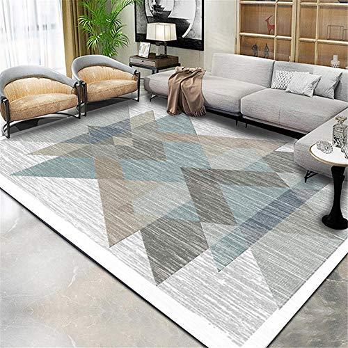 RUGYUW Alfonbras De Dormitorios Estilo geométrico Retro Azul marrón Gris Blanco Negro,hogar Salon Pasillo abitacion Dormitorio sofás Felpudo Alfombra (5'3''X7'7''ft)