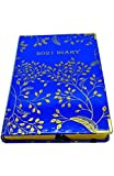 EJRange 2021 Diary A5 Day to Page - Daily Planner Journal Notebook with Hardcover Elastic Closure Ribbon Runs 26th Dec 20 Till 31st Dec 21 - Gold Foil Design (Blue)
