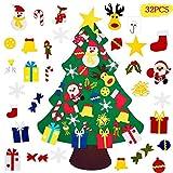 MOOING El árbol de Navidad del Fieltro de los 3.3FT DIY fijó + los Ornamentos Desmontables 30pcs, Regalos Colgantes de Navidad de la Pared para Las Decoraciones de la Navidad