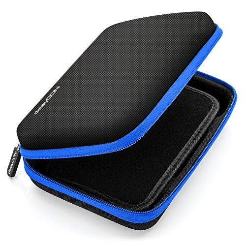 deleyCON Navi Tasche Navi Hülle Tasche für Navigationsgeräte - 6 Zoll und 6,2 Zoll (17x12x4,5cm) - Robust und Stoßsicher - 1 Innenfach - Blau