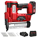 20V 18 Gauge Nail/Staple Gun Battery Powered, 2 in 1 Cordless Brad Nailer Stapler with Battery&Fast Charger, 700 Nails&300 Staples, Single&Contact Firing for Home Renovation, Woodworking, AVID POWER