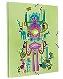 Edima School Kits - Carpeta encuadernada con gomas, diseño Nature