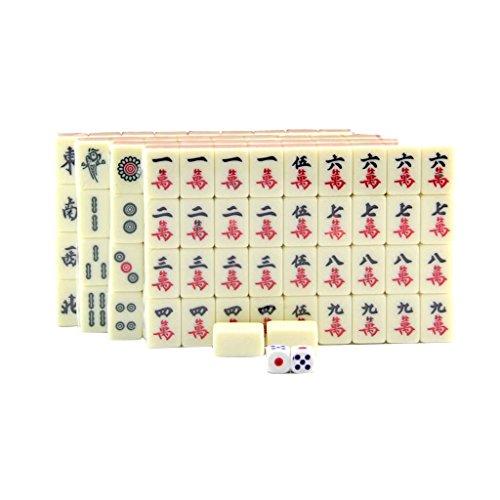 Sharplace Mini Chinesisches Mahjong mit Würfel & Box Reise Brettspiele Satz