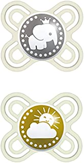 MAM Perfect Start S188 Pacifier with Extra Thin and Flexible Silicone Teat from SkinSoftTM Ultra Soft for 0-2 Months Babie...