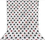 Fondo de 10 x 12 pies, juego de cartas para decoración de jugador, telón de fondo de tela de microfibra, pantalla plegable de alta densidad para fotografía, vídeo y televisión