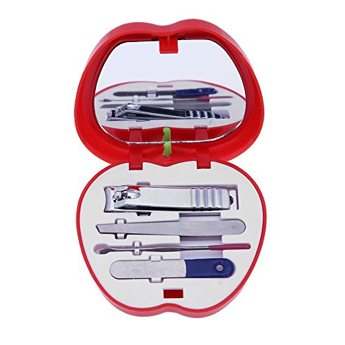 4pcs Set Nail Care Manicura Pedicura Cutticle Clippers Kit de herramientas (rojo)