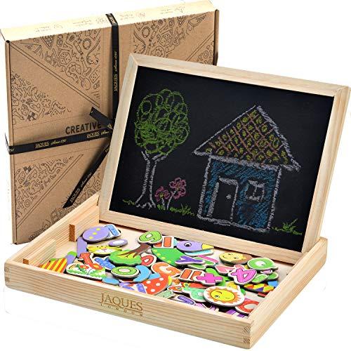 Jaques Von London Kinder Magnettafel - vervollständigen mit holz magnet – perfekt holzspielzeug ab 2 3 4 5 jahre magnete kinder für magnettafel