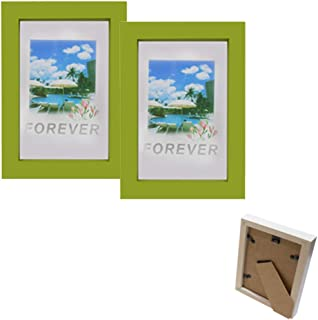 Wooden Photo Frame 4 X 6 (Pack of 2) Green