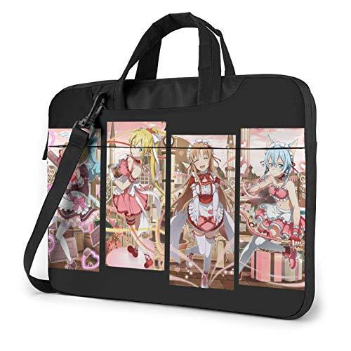 185 Laptoptasche,Schwertkunst Online-Speicher Defragmentieren Laptop Aktentasche, Waschbare Aktentaschen Für Jungen Mädchen,35.5x25.5x2cm