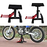Zerone réglable MX Lift Stand, Moto Motor Bike Support réglable Atelier Cric ciseau, Lift Jack Lift Stand Table de réparation pour Adventure Touring Moto Street Bike, capacité 149,7 Kilogram