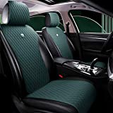 Army Green Seat Covers Universal Leather Seat Cover Comfortable Car Seat Cover 2/3 Covered 11PCS Fit Car/Auto/SUV (A-Army Green) -  Haihong