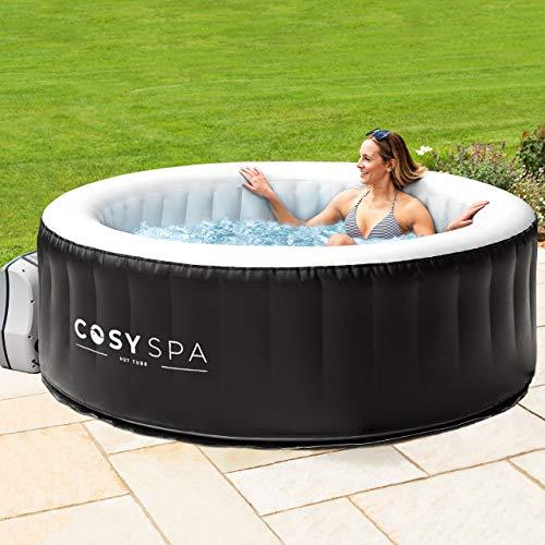 CosySpa aufblasbarer Whirlpool - Seifenblase Jacuzzi für den Außenbereich - 2-6 Personen Kapazität (6X Filter, 4 Personen)