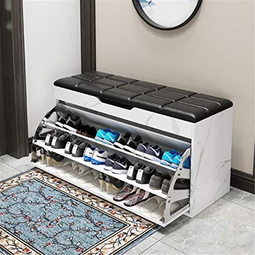 Gabinete de Zapatos El gabinete de zapatos en la puerta de la casa puede sentarse en el estante de zapatos para almacenar un almacenamiento multifuncional de varias capas de gran capacidad. Zapatero p