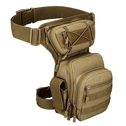 YFNT Exterior táctico Impermeable Pierna Bolsa Banana para Deporte Caminata Camping Militar Bolsa Molle cinturón Bolsa Moto para