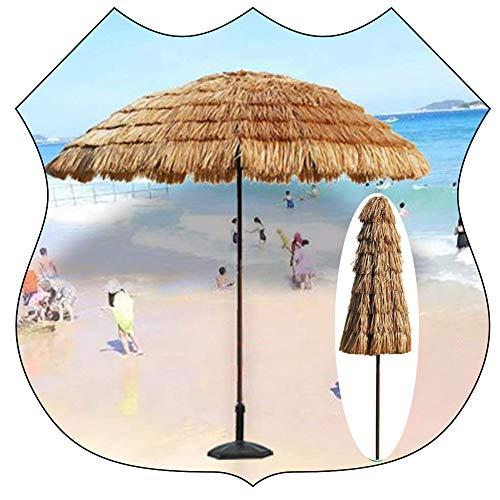 Vicareer Ombrellone da Spiaggia Ombrello da Patio in Paglia Impermeabile per Ombrellone da Giardino Esterno, con 8 Manovella/inclinazione,Party Parasole Ombrellone(7,8 Piedi / 240 Cm)