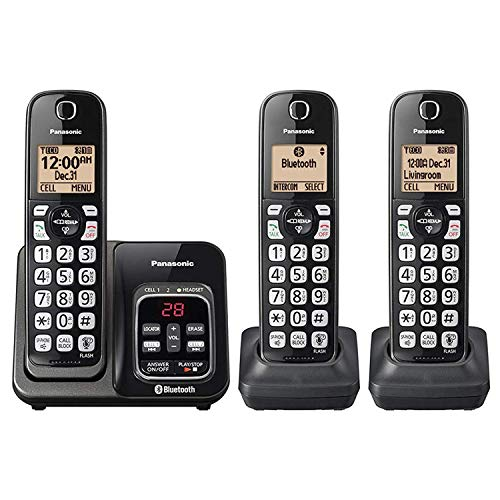 top rated Panasonic KX-TG833SK Link2Cell Bluetooth, Caller ID 3 Handset Cordless Phone (Updated) 2020