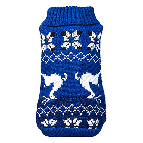 SOMESUN Haustier Hunde Sweatshirt Mini Hündchen Welpe Hoch Kragen Wolle Sweater Winter Warme Süß Weihnachten Gestrickt Häkeln Hundemantel Weich Elastisch Hundejacke Shirt
