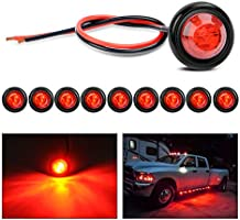 Deal on Nilight - TL-04 10 PCS 3/4 Inch Round LED Clearance Light LED Front Rear Side Marker Indicator Light Bullet...