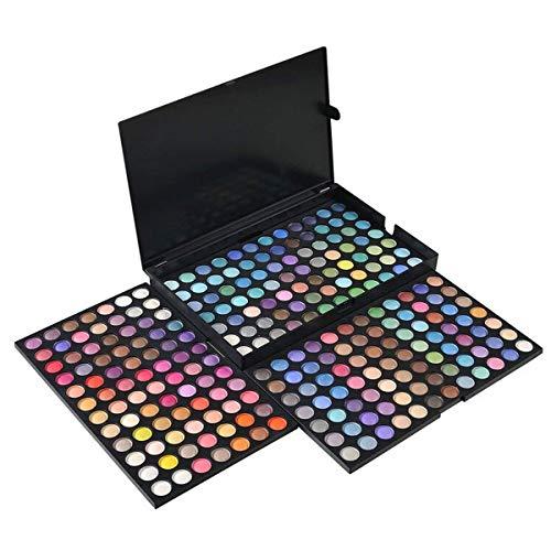 Netspower Nudo Palette Ombretti di 252 colori, Occhi dell'ombra di Occhio della Gamma di Colori dell'ombra del Corredo di Trucco Make Up Box Professional Colori Shimmer Make Up Palette Nuovo