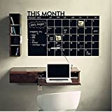 MeterMall - pizarrón Adhesiva de Pared, Calendario de Mes, pizarrón, para Oficina, decoración del hogar