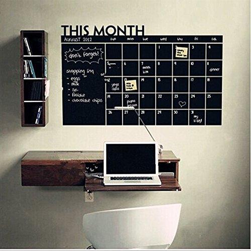 MeterMall Etiqueta de la Pared de la Pizarra Mes Calendario Etiqueta de la Pizarra Adhesivo Oficina Decoración del hogar Artículos Doméstico