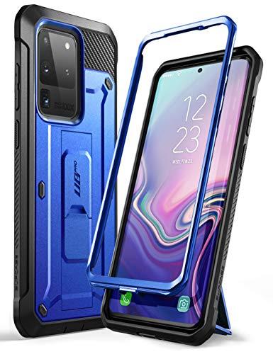 SupHülle Outdoor Hülle für Samsung Galaxy S20 Ultra Handyhülle Bumper Hülle Rugged Schutzhülle Cover [Unicorn Beetle Pro] 6.9 Zoll OHNE Bildschirmschutz mit Gürtelclip & Ständer 2020 Ausgabe, Blau