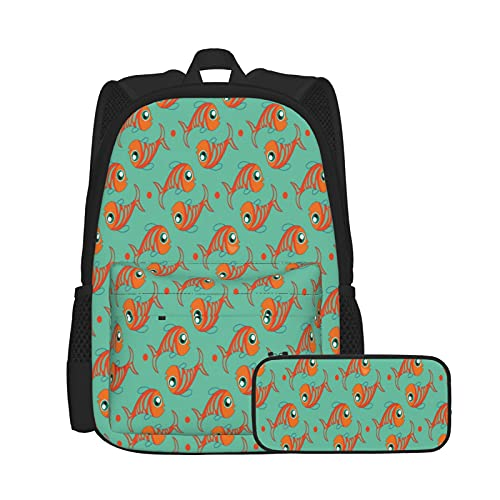 Juego de mochila de 2 piezas para adolescentes y niñas + estuche 2 en 1