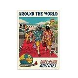 Around The World Daft Punk Airlines, Retro-Musikposter –