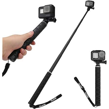 Auykoo Selfie Stick Kohlefaser Ausziehbare Schwimmende Kamera