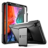 Ztotop Case for iPad Pro 4th Generation 12.9 inch 2020,Built-in Screen Protector,Dual Layer Shockproof Full Body Protective Case with Kickstand and Pencil Holder for iPad Pro 12.9' 4th Gen, Black