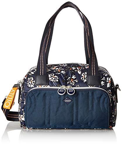 Oilily Damen Charm Handbag Shz Henkeltasche Blau (Blue-Black)