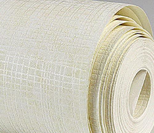 TFJJSQA Sonder/Schlicht Vliestapete Schlafzimmer Wohnzimmer Tuch Muster Tapete 53 * 1000 cm Ruß (Color : Offwhite, Size : 53 * 1000cm)
