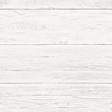 NuWallpaper Shiplap Peel & Stick Wallpaper, Off-White