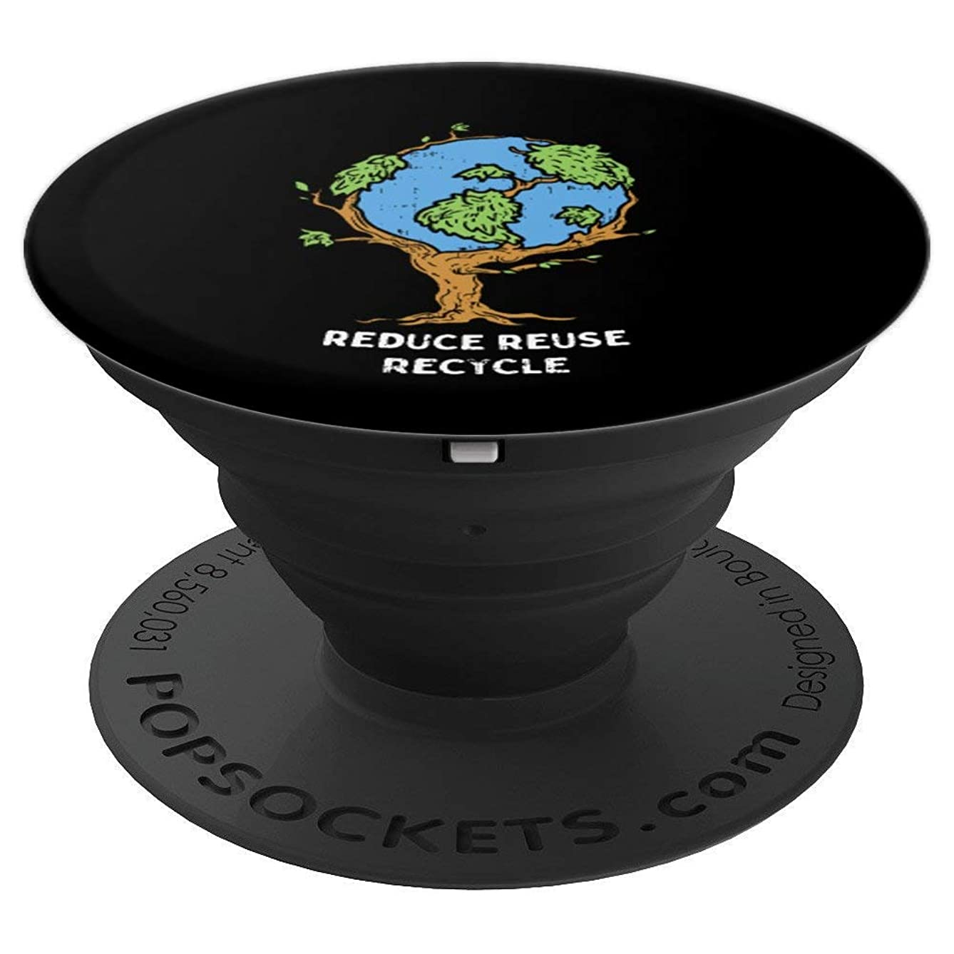 Earth Day Reduce Reuse Recycle World Environment Tree Gift - PopSockets Grip and Stand for Phones and Tablets