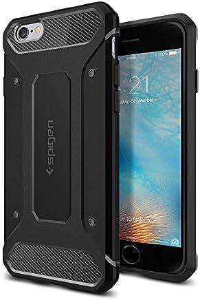 【Spigen】 スマホケース iPhone6s ケース/iPhone6 ケース 対応 TPU 耐衝撃 米軍MIL規格取得 カプセル ウルトラ ラギッド SGP11597 (ブラック)