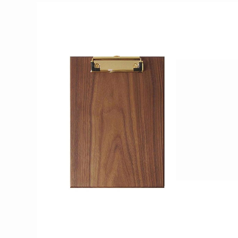 ドリル戸棚任命するPIAOLING A4純木ホールダーのクリップボードは執筆板クリップ、真鍮の金属クリップ多目的クリップボードを掛けることができます (Color : A)