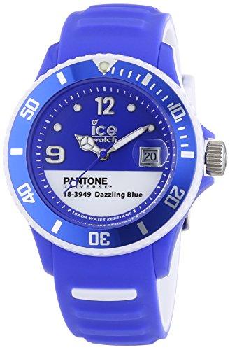 ICE-Watch - PAN.BC.Dab.U.S.13 - Pantone Universe - Dazzling Blue - Montre Mixte - Quartz Analogique - Cadran Bleu - Bracelet Silicone Bleu
