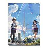 XIANGZIHU Nuevo cuadrado completo DIY pinturas de diamantes película tu nombre carteles de anime...
