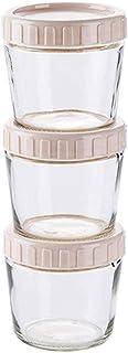BBGSFDC Jar en Verre Ensemble de Stockage Alimentaire Containers Aurance Cuisine Organisation avec Couvercle pour céréales...