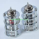 Jammas 1pc Silver Tube Guard Protector Cover For EL84 6BQ5 6P14 Audio Amp for Tube Amplifier - (Standard: Female, Color: Sliver)