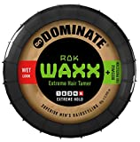Dominate Rok Waxx Cire Coiffante avec Cire d'Abeille, Produits de Salon, Fixation Extra-forte avec un effet mouillé défini, 85g