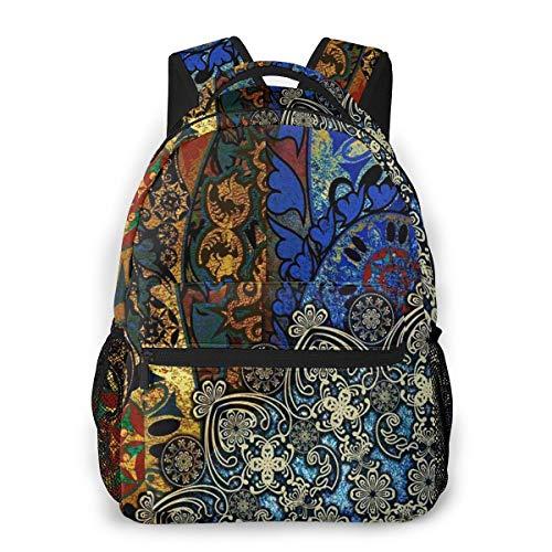 Rucksack Männer Und Damen, Laptop Rucksäcke für 14 Zoll Notebook, Buntes goldenes Mittelalter Kinderrucksack Schulrucksack Daypack für Herren Frauen