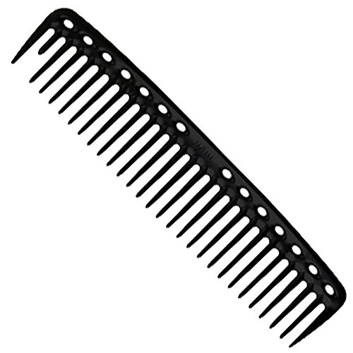 YS Park 452 Round Tooth Cutting Comb In (BLACK CARBON). Made in Japan + FREE Double Dip Comb/Brush ($4 value)