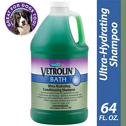 Farnam Vetrolin Bath Hydrating Coat Conditioning Shampoo | for Horses, Ponies and Dogs | 64 oz