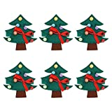 VALICLUD Weihnachtsbaum Serviettenringe Serviettenschnalle Serviettenhalter Stoffservietten Ringe Streuteile für Weihnachten Tischdeko Streudeko Xmas Deko