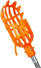 Fruit picker with telescopic handle Portable fruit catcher Combines With Removable Mast For peach mango jujube (Color : Or...