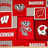 NCAA Wisconsin Badgers 1177 Patch Fleece, Fabric by the Yard