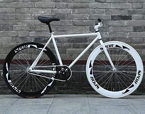 ZTYD Camino de la Bicicleta, Bicicletas 26 Pulgadas, Stripped Sistema de Frenos Fixie Volver, Marco de Acero de Alto Carbono, Camino de la Bicicleta de Carreras, Hombres y Mujeres Adultos de,D