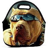 Pitbull Dogs Neoprene Lunch Bag Tote Handbag Lunchbox Contenedor De Alimentos Gourmet Tote Cooler Bolsa Cálida Para El Trabajo Escolar Oficina