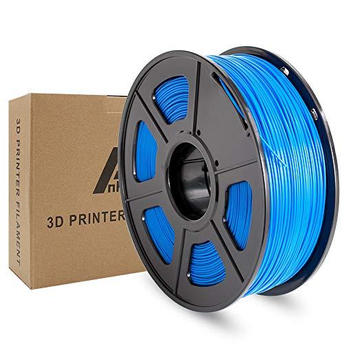 Ankun ABS 3Dプリンター用フィラメント素材、寸法精度+/- 0.02 mm、高強度ABS樹脂 造形材質 1.75mm径 正味量2.2 LBS(1KG)スプール3Dフィラメント、3Dプリンター3Dペン用 スプール造形材料(ABSフィラメント青・ブルー・Blue)
